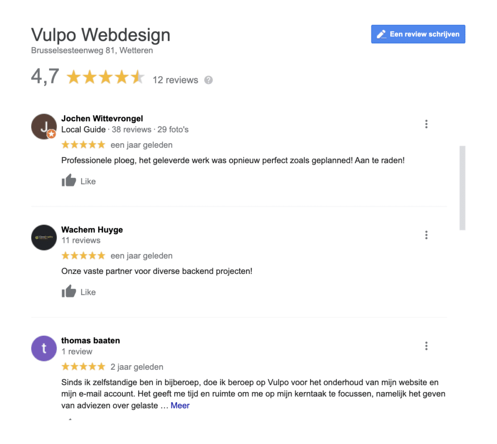 Recensies Google